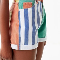 BDG Mom High-Rise Denim Short – Colorblock | Urban Outfitters