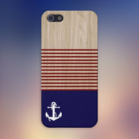 American Sailor x Striped Wood Case for iPhone 6 6+ iPhone 5 5s 5c iPhone 4 4s and Samsung Galaxy s5 s4 & s3