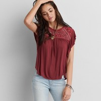 AEO Embroidered Top