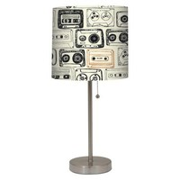 Stick Lamp with Cassette Pattern Print