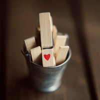 Laundry room decor, heart, love, clothespins art, whimsical, rustic wall art, brown, fine art photo, chaoscurators, etsy, etsyfinds, 8x10