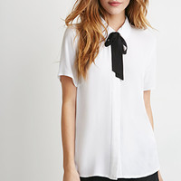 Self-Tie Neck Shirt