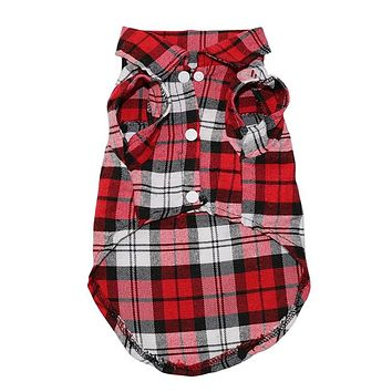 Plaid Dog Shirts for Dogs
