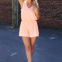 Georgia Peach Romper