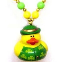 42in St Pats Rubber Duck Necklace {st patrick, shamrock}