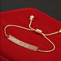 18K Rose Gold Plated Cubic Zirconia Braclet - 2 Colors