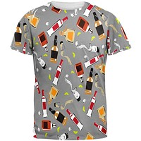 Liquor Bottles All Over Mens T Shirt