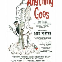 Anything Goes 14x22 Broadway Show Poster (1934)