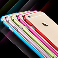 i6 Ultra Thin Capa For Apple iPhone 6 Bumper Luxury Aluminum Metal Cell Phone Protective Cases Covers For iPhone 6 4.7''