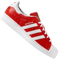 ADIDAS ORIGINALS SUPERSTAR ANIMAL S75158 Trainers Shoes Ostriches Leather Red