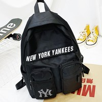 NY hot selling casual printed backpacks fashionable backpacks for men and women Black
