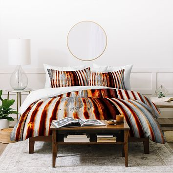 Caleb Troy Rusted Lines Duvet Cover