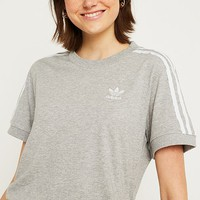 adidas Originals Grey 3-Stripe T-Shirt | Urban Outfitters