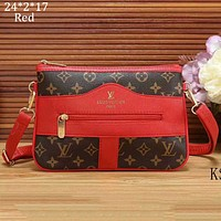 LV Louis Vuitton 2018 new tide brand diagonal cross bag shoulder bag handbag F-a-BBPFCJ red
