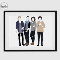 ONE DIRECTION - 1D - Harry Styles, Niall Horan, Liam Payne, Louis Tomlinson - Minimalist Poster Art