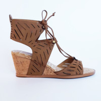 Dolce Vita Langly Saddle Laser Cut Sandal Wedge- $140.00 |Hand In Pocket