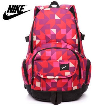 """Nike"" Fashion Tartan Travel Backpack Shoulder Bag Daypack"