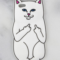 Middle Finger Kitty iPhone Case