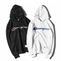 Champion Embroidered Hoodie Sweater S Xxl -1