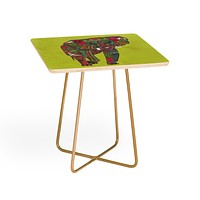 Sharon Turner Painted Elephant Chartreuse Side Table