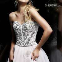 Short Strapless Dress by Sherri Hill