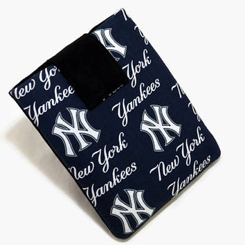 Tablet Case, iPad Cover, New York Yankees, MLB, Baseball, Kindle Fire Cover, 7, 8, 9, 10 inch Tablet Sleeve, Cozy, Handmade, FOAM Padding
