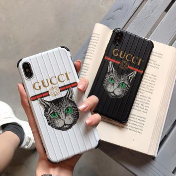 Gucci Cat SuitCase Style Case - White