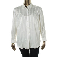 Lauren Ralph Lauren Womens Plus Sheer 2 Piece Blouse