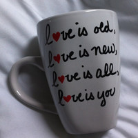 Love Mug - 'love is old love is new love is all love is you' The Beatles