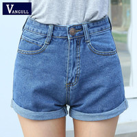 High Waist Denim Shorts Plus Size XL Female Short Jeans for Women 2016 Summer Ladies Hot Shorts