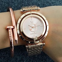 Pandora Popular Woman Men Simple Quartz Movement Wristwatch Couple Watch Rose Golden