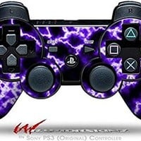 Sony PS3 Controller Decal Style Skin - Electrify Purple (CONTROLLER NOT INCLUDED)
