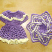 Purple and yellow Hot Pad & Dish Soap Bottle Cover