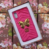 GUCCI Fashion Trending Cortex iPhone Phone Cover Case For iPhone X I Phone 8 I Phone 8Plus Pink G