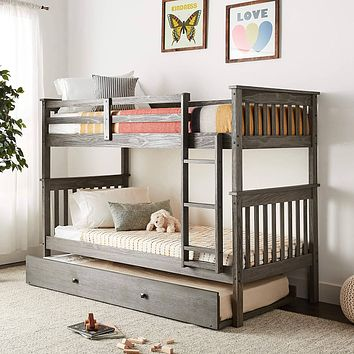 Zoe Modern BunkBed with Trundle