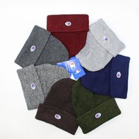 Champion Korean Knit Mixed-color Unisex Winter Skateboard Hats [429893451812]