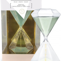 We Live Like This Chic Glass Timer with Mint Sand