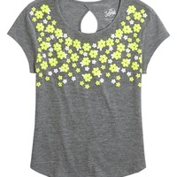 KEYHOLE BACK DAISY TEE | GIRLS DRESSED FOR SPRING SALE | SHOP JUSTICE