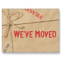 Moving Announcement Postcards from Zazzle.com