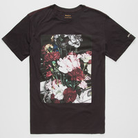 Rvca Roses Mens T-Shirt Black  In Sizes