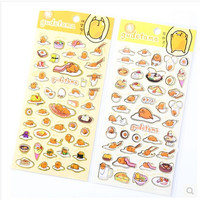 Cute Sanrio Gudetama Lazy Egg Stickers Diary Sticker Scrapbook Decoration PVC Stationery DIY Stickers School Office Supply