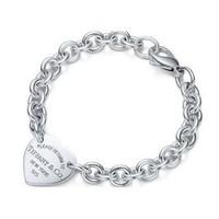 TIFFANY Women Fashion Chain Bracelet Jewelry-7