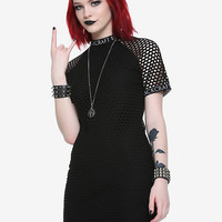 BlackCraft Fishnet Dress Hot Topic Exclusive
