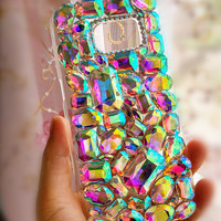 Customize AB Crystal Cell Phone Cases for iphone 5 5s 6 6s plus, for galaxy S6 S7 and more