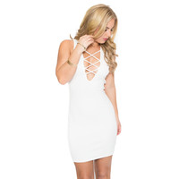 Sweeter Side Bodycon Dress In White