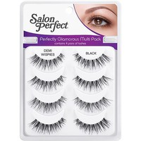 Salon Perfect Perfectly Glamorous Multi Pack Eyelashes, Demi Wispies Black, 4 pr - Walmart.com
