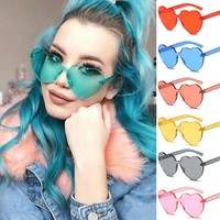 Heart UV400 Candy Colored Sunglasses