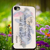 Eeyore Donkey Quotes - for iPhone 4/4s, iPhone 5/5s/5C, Samsung S3 i9300, Samsung S4 i9500 Hard Plastic Case
