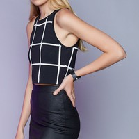 Gridlock Top Black