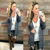 For Your Love Cardigan: Blue